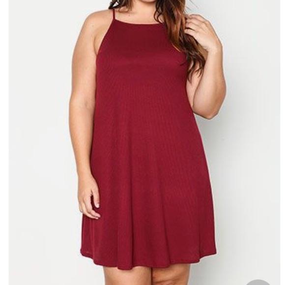 Plus Size Swing Tank Dress